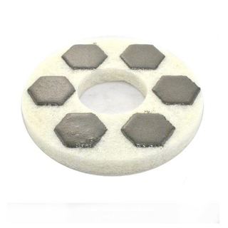 Sprial Segments Diamond Sponge Polishing Pads For Concrete Floor DMY-P1