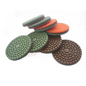 Diamond Resin Bond Floor Polishing Pads With Rubber Pad In The Center DMY-20