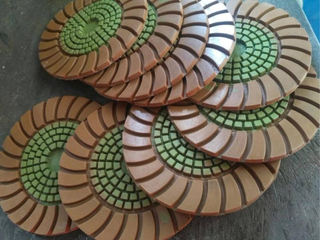 Sunflower Diamond Resin-Copper Bond Polishing Pads